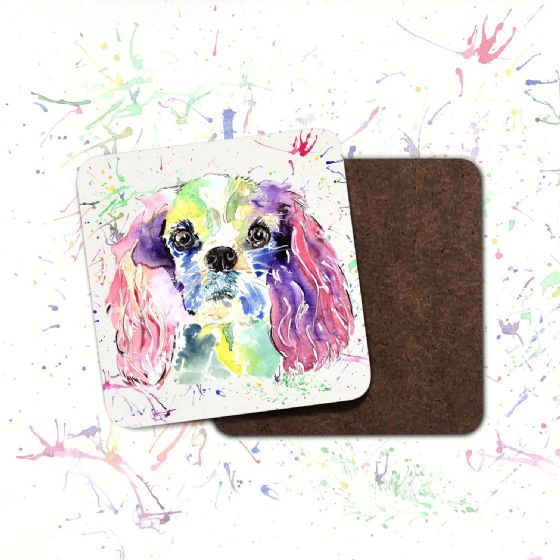 Hard board coaster (Cavalier King Charles)